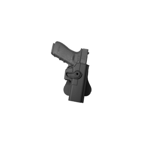 Holster rigide Roto pour GLOCK 17/18/22/31 avec support pour ceinturon, noir