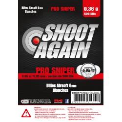 Billes 6 mm 0,36 g Pro Sniper Non BIO sachet de 500