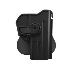 Holster rigide Roto pour Sig Sauer SP2022 avec support pour ceinturon, noir