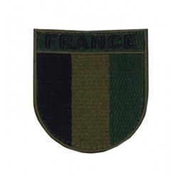 France Patch Velcro low visibility Green
