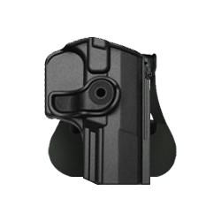 Holster rigide Roto pour WALTHER P99 avec support pour ceinturon - Noir