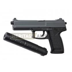 DL60 SOCOM pistolet avec silencieux réplique à ressort [ Spring ] + Offert : Grenade Biberon de Billes