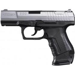 Walther P99 Dual Tone noir et argent réplique à ressort [ Spring ] + Offert : Grenade Biberon de Billes