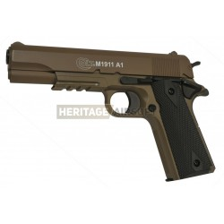 Colt 1911 réplique de pistolet d'airsoft avec rail désert réplique à ressort [ Spring ] + Offert : Grenade Biberon de Billes