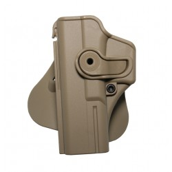 Holster rigide Roto GAUCHER GLOCK 17/18/22/31 + support ceinturon - Tan - IMI Defense