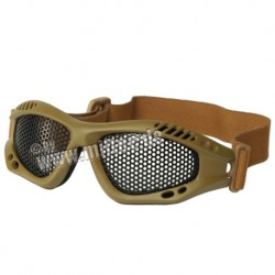 Lunettes airsoft grillage homologue CE de protection pour l'airsoft - Coyote - Viper