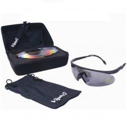 Lunettes de protection pour l'Airsoft - pack de 3 verres + insert + étui + cordon - Viper