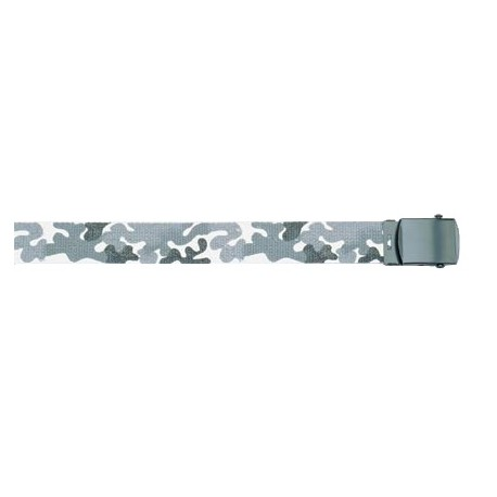 Reversible Belt Urban White Camo with Black Buckle
