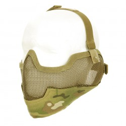 Masque grillagé airsoft de protection - Grand modèle - Multi camo