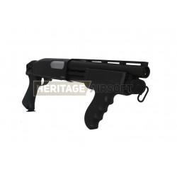 M870 Remington de fusil à pompe d'airsotf M870 Bull Dog multi shot - Noir - A&K