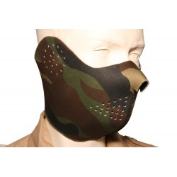 Reversible Neoprene Half Face Mask Woodland, Black