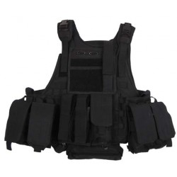 Vest MOLLE Rangers with pockets and camelback black