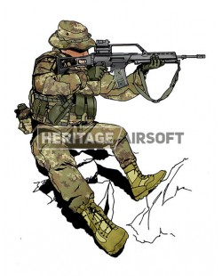Tenue Airsoft : Italien vegetato