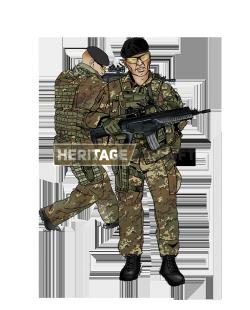 Tenue Airsoft : Patrouille Italienne - Vegetato + ARX