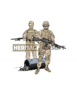 Tenue Airsoft : Sniper Marines désert