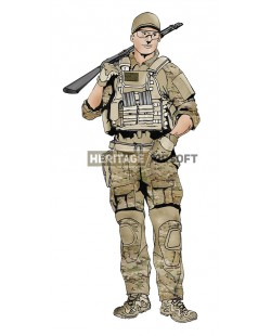 Airsoft loadout: BF4 Multicam