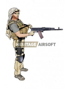 Airsoft loadout: The Hurt Locker Contractor