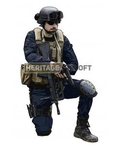 Tenue airsoft : Gendarme OPEX