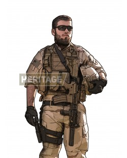 Tenue Airsoft : American Airsoft Sniper
