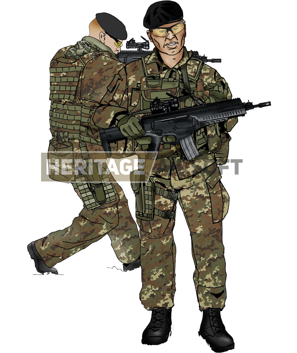 1ac2438c23b35 The Italian loadout is recognizable with his Vegetato camouflage, released  in 2004.