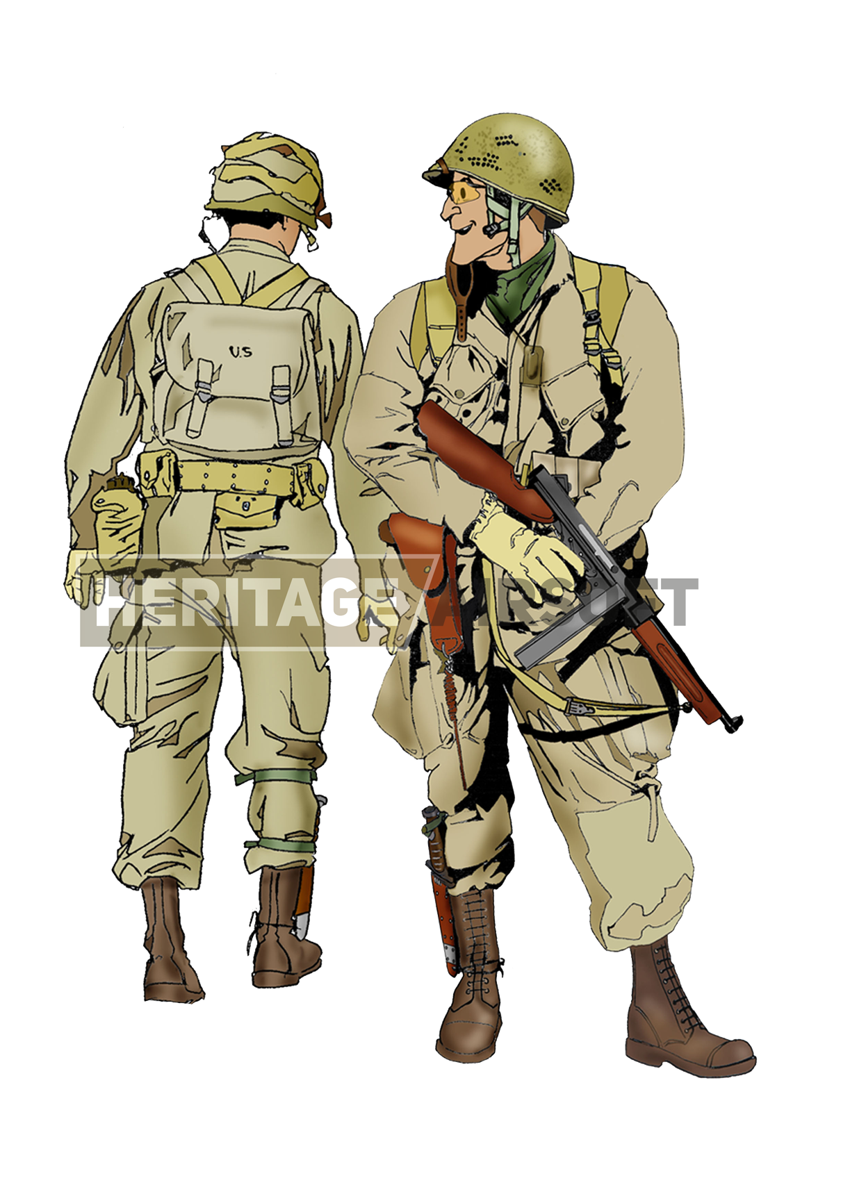 Airsoft Loadout Us M42 Paratrooper Normandy 1944 Heritage Airsoft